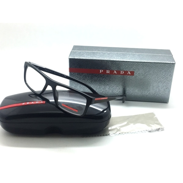 25faada0dd1a Shop PRADA Sport VPS 04G 1AB-1O1 Shiny Black 53mm Men s Eyeglasses ...