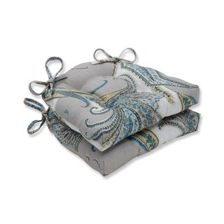 Pillow Perfect Indoor Rimbly Dune Reversible Chair Pad (Set of 2)