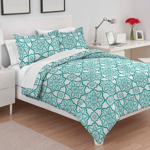 Utica Sadie Teal Comforter Set