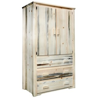 Frontier Collection Rustic Pine Armoire