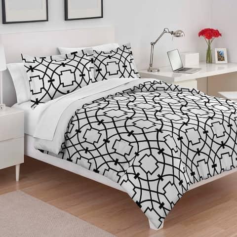 Utica Donna Black & White Comforter Set