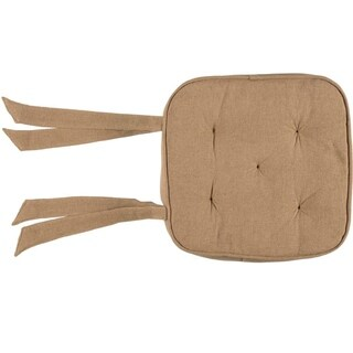 VHC Burlap Natural Tan Farmhouse Classic Country Tabletop & Kitchen Chair Pad