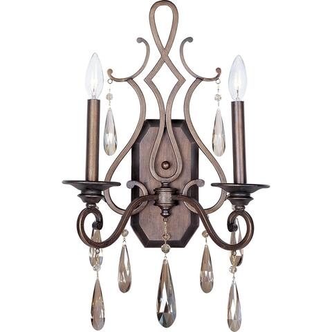 """Chic 13.5"""" Wide Steel Wall Sconce - Heritage"""