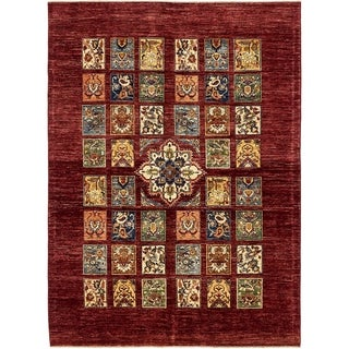 Hand Knotted Ariana Ziegler Wool Area Rug - 5' 7 x 7' 8