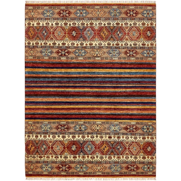 Hand Knotted Ariana Ziegler Wool Area Rug 7 X27 X