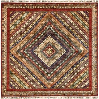 Hand Knotted Ariana Ziegler Wool Square Rug - 6' 6 x 6' 8
