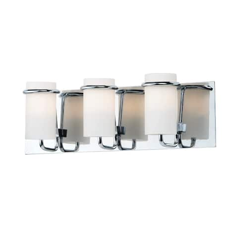 """Avant 18"""" Wide Steel Bath Vanity Light - Polished chrome - Polished chrome"""