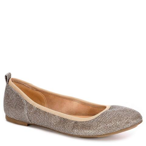 XAPPEAL Womens Clair Slip On Ballet Flat Shoes Gold