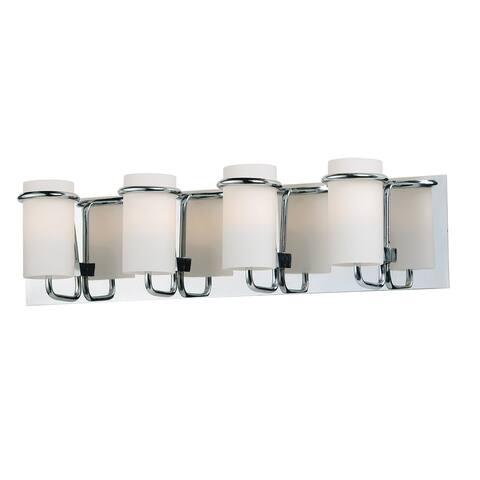 """Avant 23.5"""" Wide Steel Bath Vanity Light - Polished chrome - Polished chrome"""