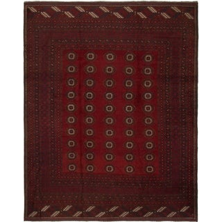 Hand Knotted Afghan Mouri Wool Area Rug - 9' x 11' 3