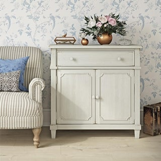The Gray Barn Nettle Bank Antique White Accent Cabinet