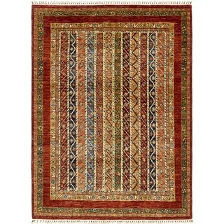 Hand Knotted Ariana Ziegler Wool Area Rug - 5' 9 x 7' 8