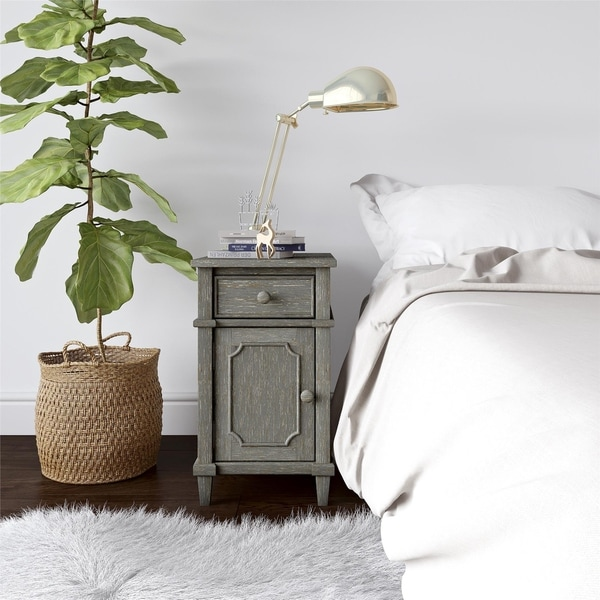 Avenue Greene Grand Antique Taupe Side Table