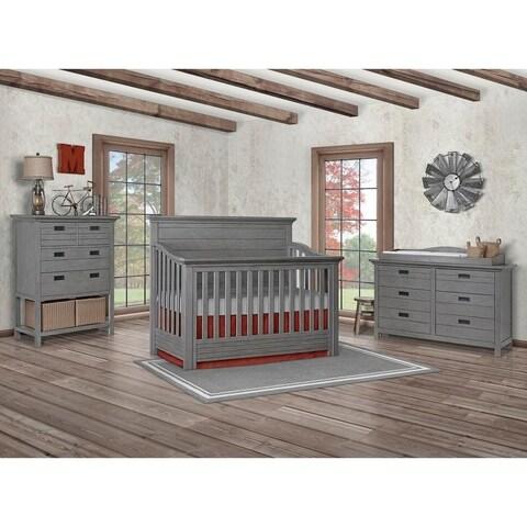 Evolur Waverly 5 in 1 Full Panel Convertible Crib