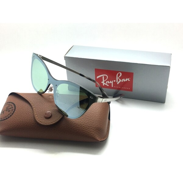 5550d0382ce Shop Ray-Ban Women s Blaze Clubmaster Silver Mirrored Cateye Sunglasses -  Free Shipping Today - Overstock - 23060371