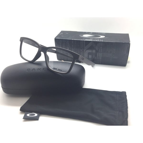 8a3b4ccc8f Shop Oakley OX8069-0753 Square Gray FENCELINE Satin Flint Eyeglasses 53mm -  Free Shipping Today - Overstock.com - 23060415