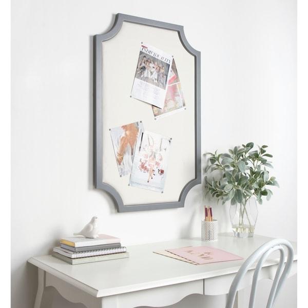 Shop Kate and Laurel Hogan Framed Fabric Pinboard - 24x36 - On Sale ...