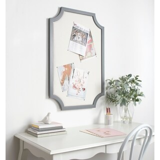 Kate and Laurel Hogan Framed Fabric Pinboard - 24x36