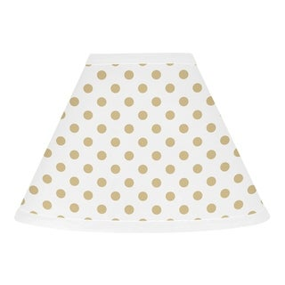 Sweet Jojo Designs Gold and White Polka Dot Butterfly Floral Collection Lamp Shade