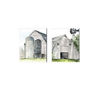 Jennifer Parker 'Weathered Barn' Canvas Art (Set of 2)