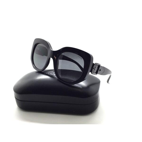 Shop Coach HC 8228 500287 Black Full Frame Plastic Sunglasses 53mm ...