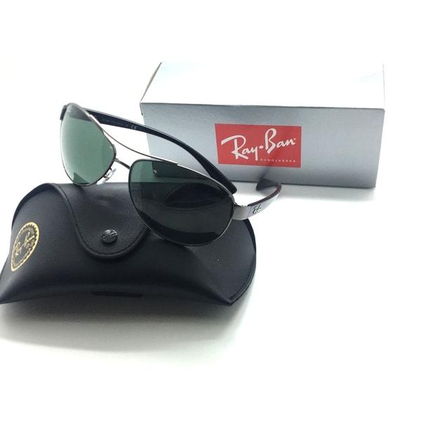 c9d39ab627 Rayban Sunglasses RB3386 004 71 63mm Gunmetal Black Green Grey G15 AUTHENTIC