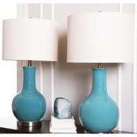 Abbyson Gourd Blue Ceramic 29-inch Table Lamp (Set of 2)