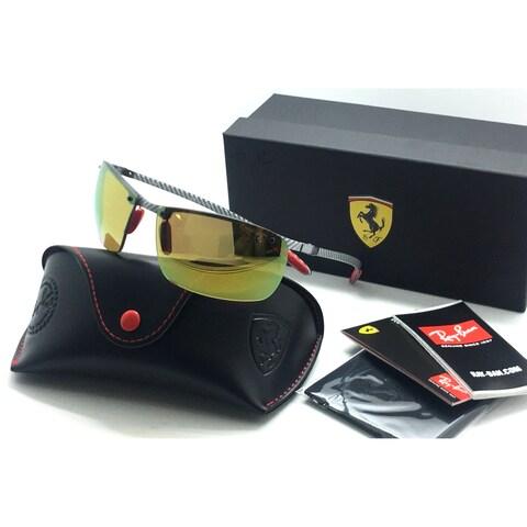 Ray-Ban Polarized 3P Ferrari Edition Light Carbon Gold Mirror RB8305M F0066B