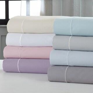Amrapur Overseas 400 Thread Count Cotton Rich 4-Piece Sheet Set