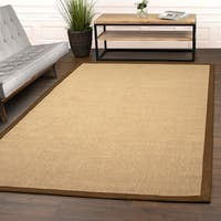 Superior Designer Hand Woven Natural Fiber Jute Chocolate Area Rug - 6' x 9'