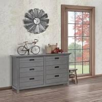 Evolur Waverly Grey Wood Double Dresser
