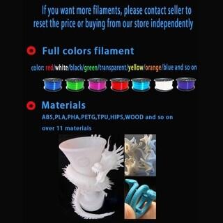 Aluminium Profile Extrusion 3D Printer Kit 3D Printing SD Card LCD Screen - black