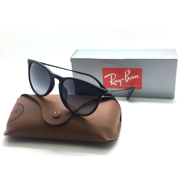 e1106f482edf7 Shop Ray Ban RB 4171 F Asian Fit Erika 622 8G 54 Black Rubber Grey Fade  Authent - Free Shipping Today - Overstock.com - 23061041