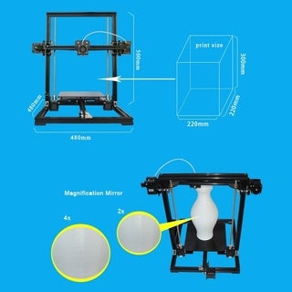 X3 High Precision 3D Printer System With LCD Display Black US Plug