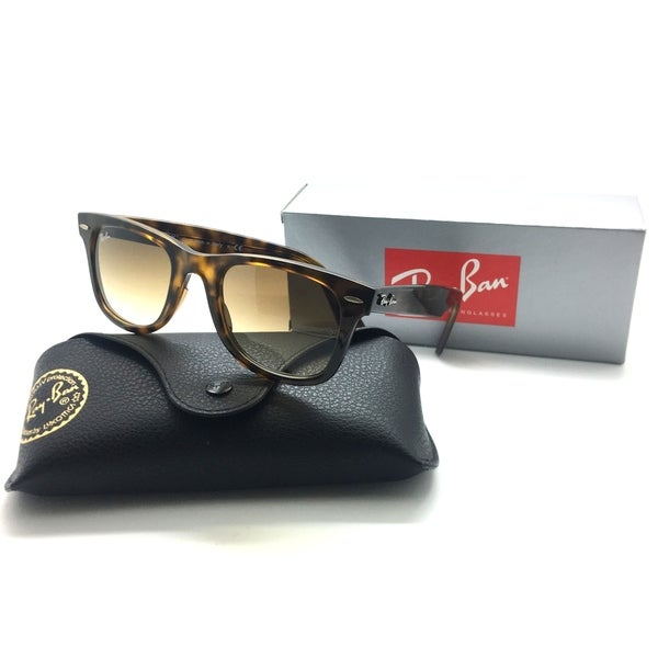 b9bf1a0179 Shop Ray Ban RB4340 710 51 50 22 150 2N Wayfarer Highstreet Havana Frame  Brown Lens - Free Shipping Today - Overstock - 23061109