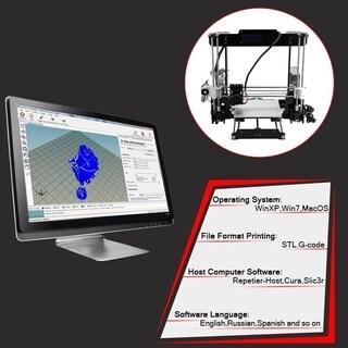 LCD Filament Aluminum Mechanical Kit Acrylic Frame 3D Color Printing Printer - Black & Silver