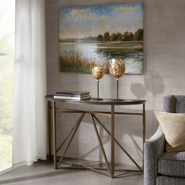 Madison Park Kayden Black/ Bronze Console Table - Shop Madison Park Kayden Black/ Bronze Console Table - Free Shipping