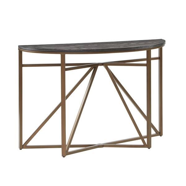 Fabulous Shop Madison Park Kayden Black Bronze Console Table On Ncnpc Chair Design For Home Ncnpcorg