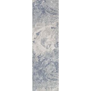 "Momeni Illusions Wool Hand Tufted Grey Area Rug - 2'3"" x 8' Runner"