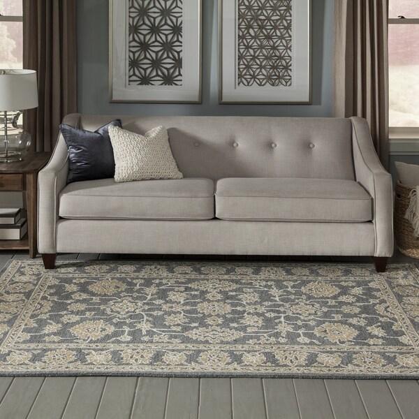 Momeni Valencia Wool and Viscose Hand Tufted Grey Area Rug - 8' x 10'