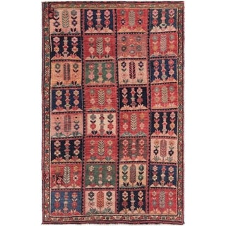 Hand Knotted Bakhtiar Semi Antique Wool Area Rug - 4' x 6' 4