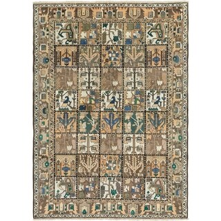 Hand Knotted Bakhtiar Semi Antique Wool Area Rug - 7' x 9' 10