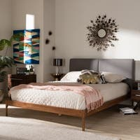 Mid-Century Platform Bed by Baxton Studio