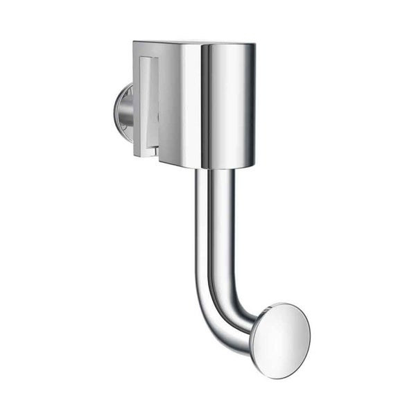 Smedbo No Drill Hook for Glass Shower Panel in Polished Chrome Finish