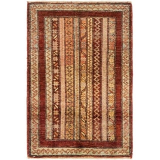 Hand Knotted Ariana Ziegler Wool Area Rug - 2' x 3'