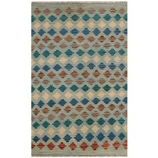 Handmade Herat Oriental Afghan Hand-woven Vegetable Dye Kilim Wool Rug (2'8 x 4'2)