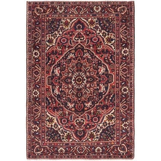 Hand Knotted Bakhtiar Wool Area Rug - 6' 8 x 10'