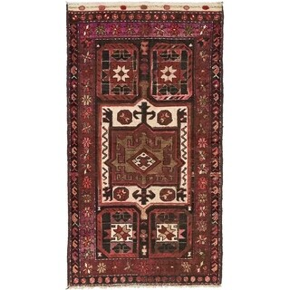 Hand Knotted Bakhtiar Semi Antique Wool Area Rug - 3' 6 x 6' 3