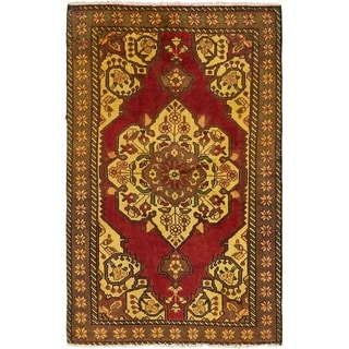 Hand Knotted Bakhtiar Semi Antique Wool Area Rug - 3' 10 x 6' 6