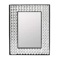 Essential Decor & Beyond Black Metal Wall Mounted Accent Mirror